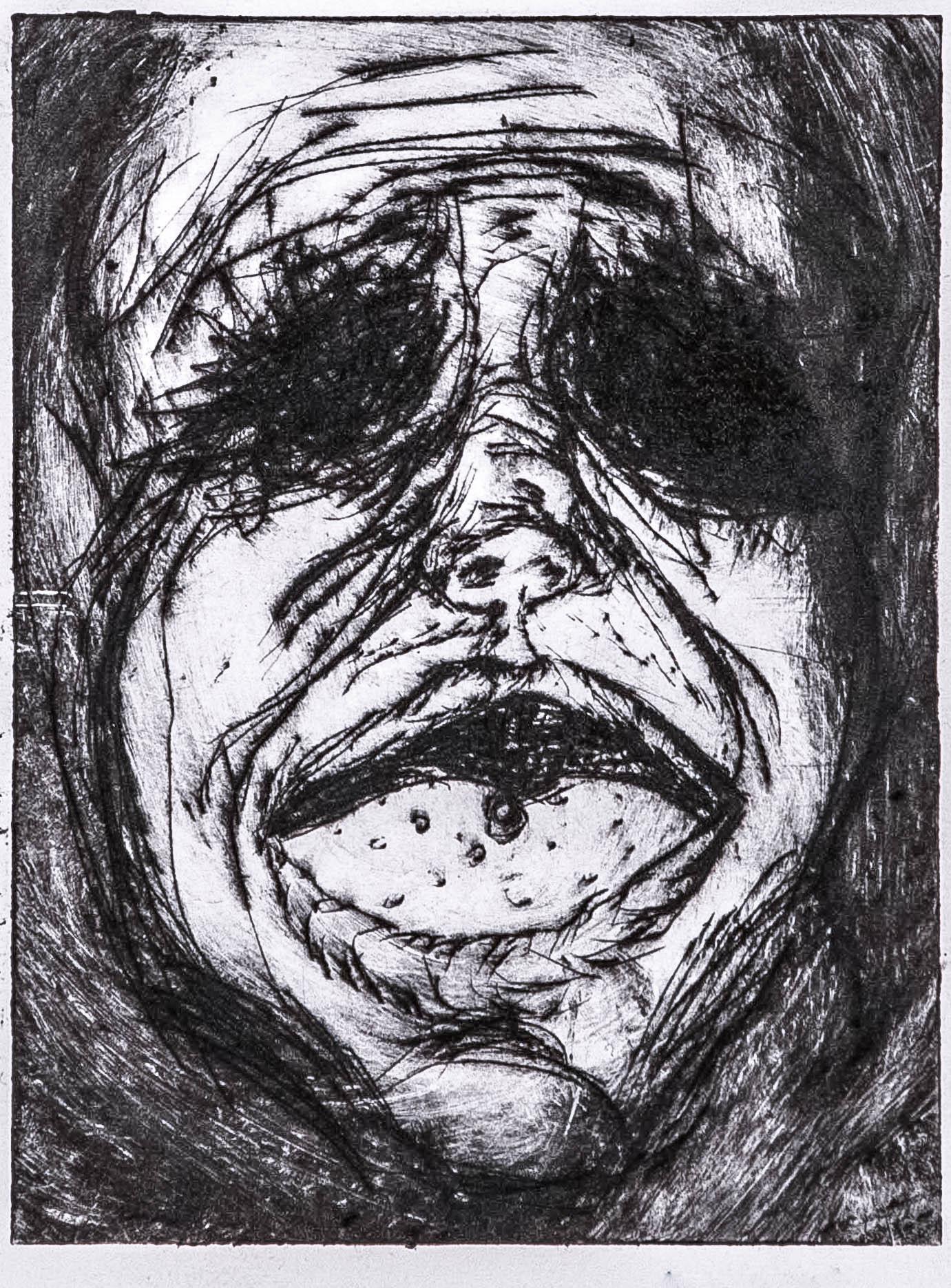 Regina Viqueira, A pill to swallow, 2013, intaglio print