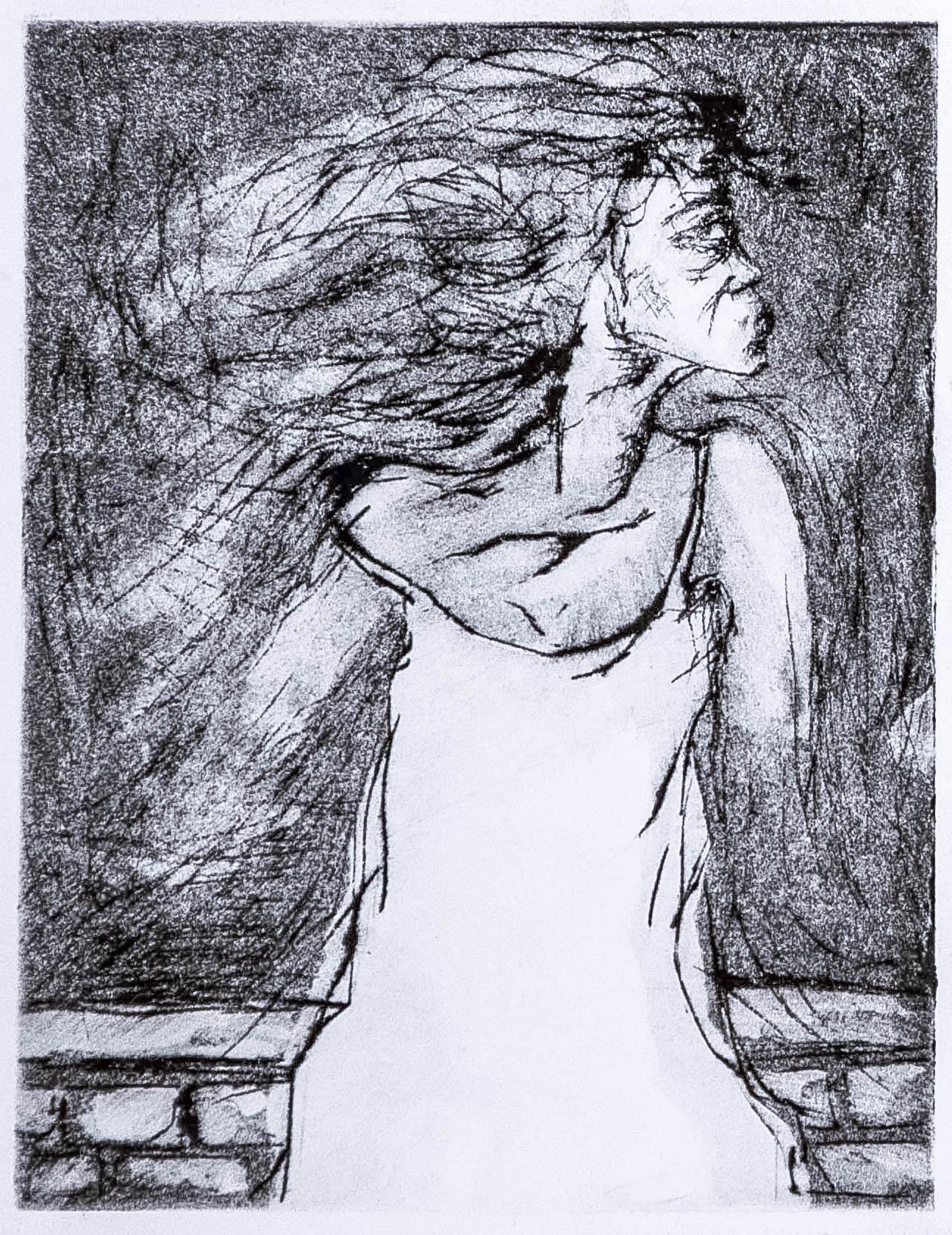 Regina Viqueira, Disappearing woman, 2013, intaglio print